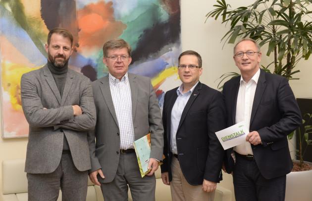 Michael Fleischhacker, Herbert Beiglböck, August Wöginger, Detlev Eisel-Eiselsberg   © Foto Fischer